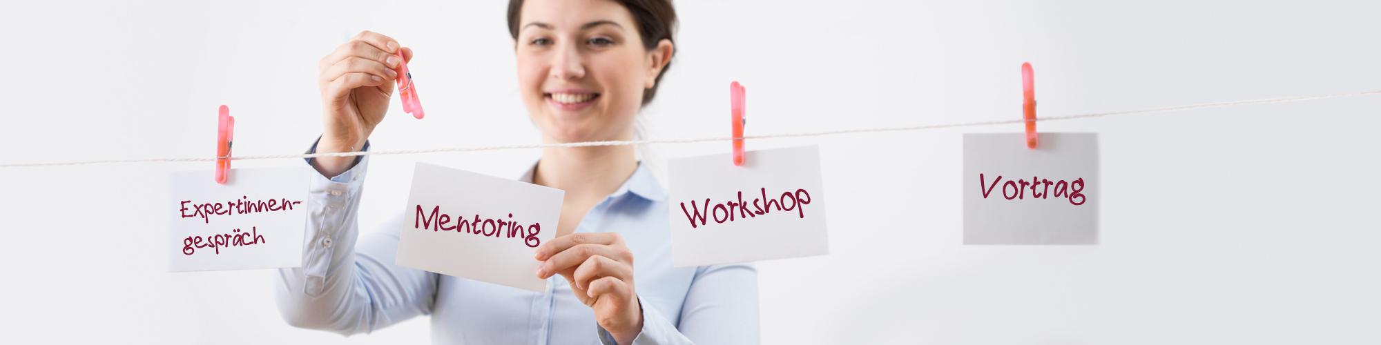Mentoring, Gespräche, Workshops, Vorträge: Das Angebot von MOVE